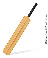 cricket bat illustration isolated on white background
