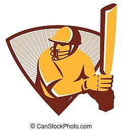 cricket-batsman-bat-shield-side - Illustration of a cricket...