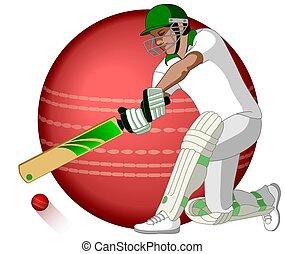 cricket batsman swinging bat