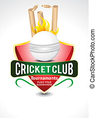 Cricket Club Tournament Template design