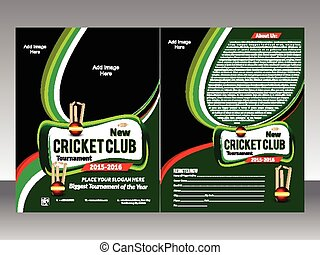 cricket flyer template vector