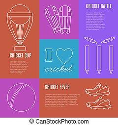 Cricket game vector concept.
