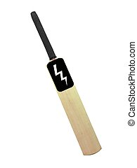 Cricket gear isolated against a white background