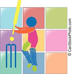 Cricket icon in colors