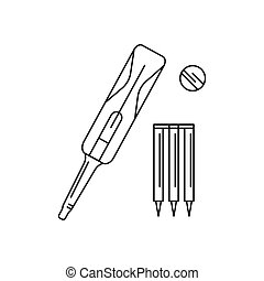 Cricket icon, outline style
