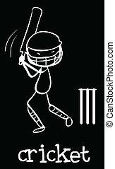 Cricket - Illustration of a man doing cricket