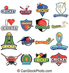 Cricket label and tag - easy to edit vector illustration of...