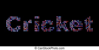 Cricket led text