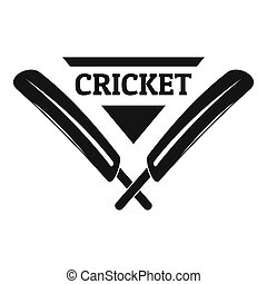 Cricket logo, simple style
