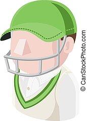 Cricket Man Avatar People Icon