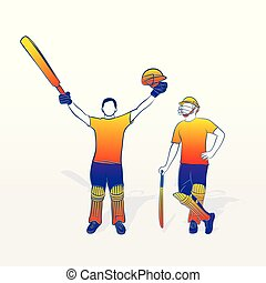 cricket player celebrate success
