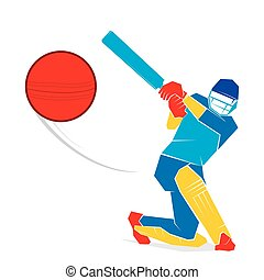 cricket player design - cricket player hit big shoot, out of...