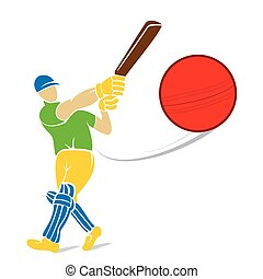 cricket player design - cricket player hitting big shoot for...