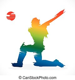 cricket player sketch design - batsmen hit the ball design...