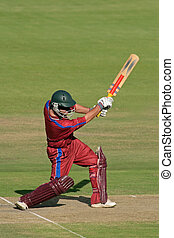 Cricket player - A cricket batsman in action