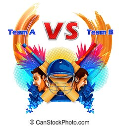 Cricket players of cricket championship and VS versus