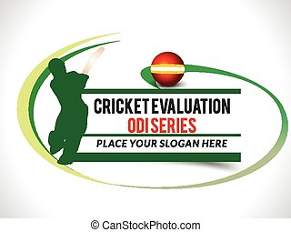 Cricket Text background with Wave vector illustration