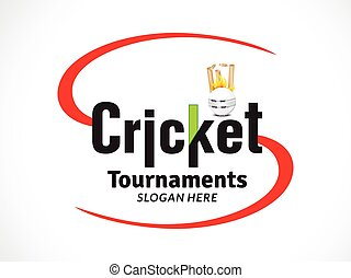 cricket tournament banner or text style.