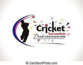 Cricket Tournament Text & Banner Design Template