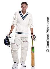 Cricketer portrait