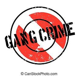 crime, bande, timbre, caoutchouc