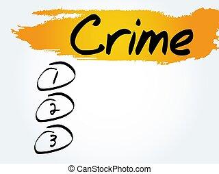 CRIME blank list