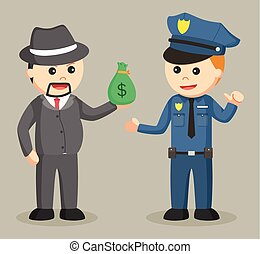 crime boss bribe police with money