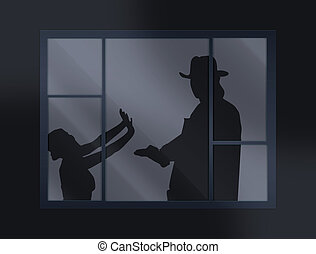 crime - crying loud help behind the closed window