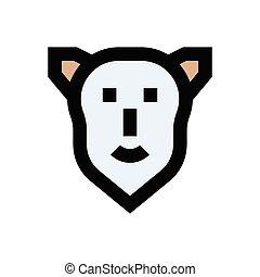 crime  flat color icon