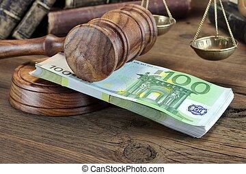 crime, fraude, ou, falência, suborno, lei, corrupção, conceito, fiança