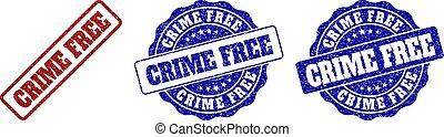 CRIME FREE Grunge Stamp Seals