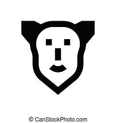 crime  glyph flat icon