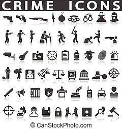 crime, icônes