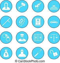 Crime icon blue
