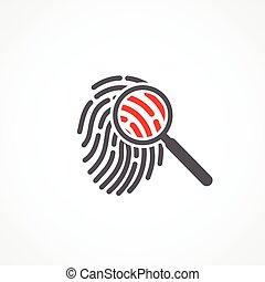 Crime icon on white background. Vector illustration.