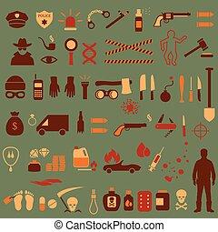 crime icons,