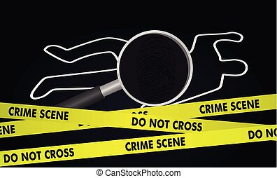 Crime investigation concept. vector illustration