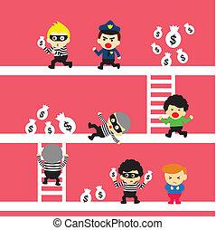 crime, pessoas