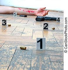 Crime - Murder -inspection of the scene