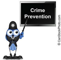 crime prevention - Policeman giving talk on crime prevention...