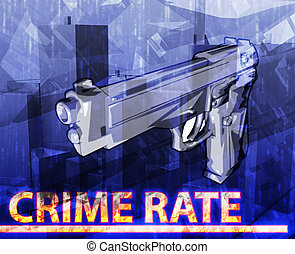 Crime rate abstract concept digital illustration - Abstract...