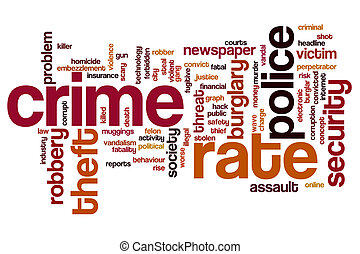 Crime rate word cloud - Crime rate concept word cloud ...