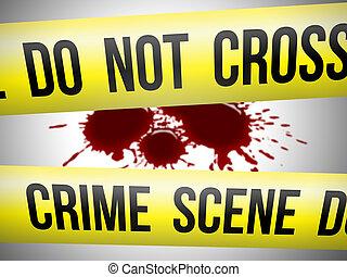Crime scene 2 - Crime scene do not cross yellow ribbon with...