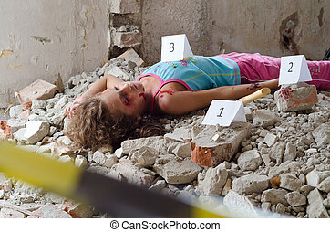 Crime scene - Abandoned body found in a building in...