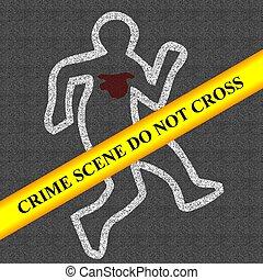 crime scene   - crime scene