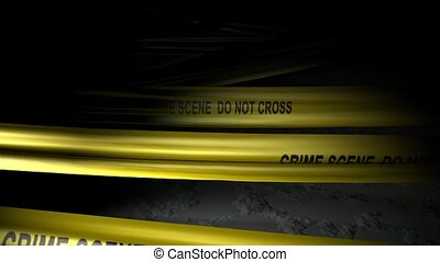 Crime scene - Concept animation, police crime scene tape.