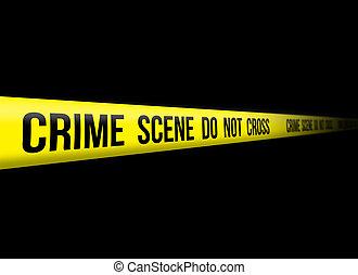 Crime Scene Do Not Cross yellow tape