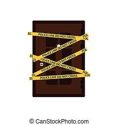 Crime scene door icon