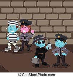 Crime scene illustration design