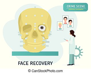 Crime scene investigation. Restoration of the face on the ...
